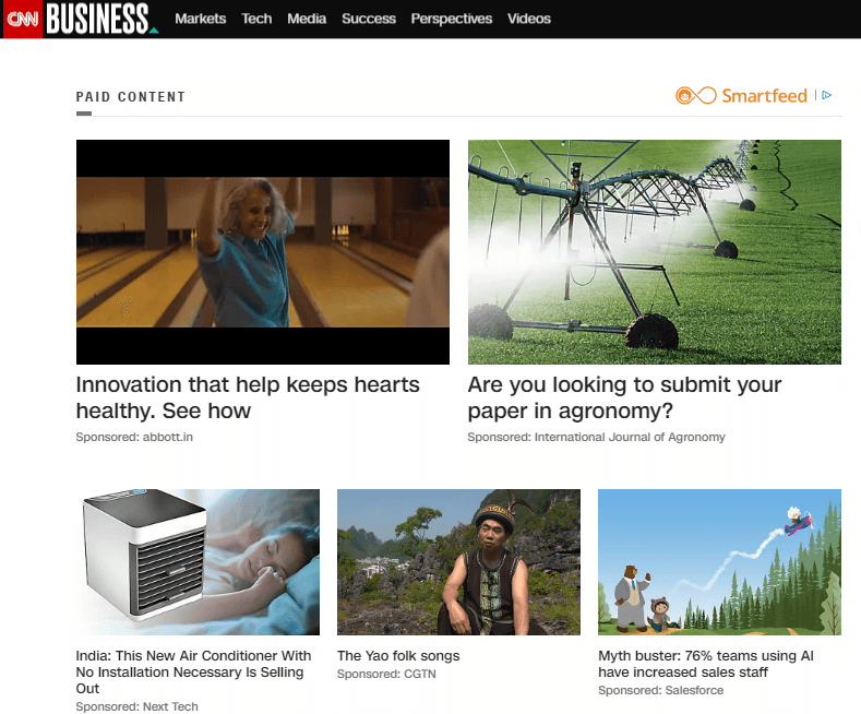 Native Advertising Content Recommendations