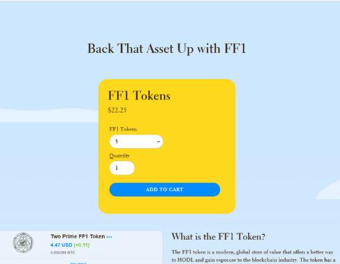 BACK THAT ASSET UP FF1 Token